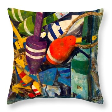 Hangin With The Buoys Throw Pillow