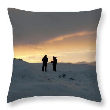 Throw Pillow featuring the photograph Hanging Around Iceland by Dubi Roman