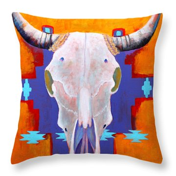 Throw Pillow featuring the painting Hanging Around by M Diane Bonaparte
