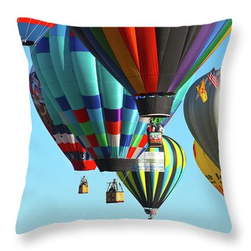 Hanging Around Throw Pillow by Marie Leslie