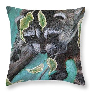 Hanging Around Throw Pillow by Nick Gustafson