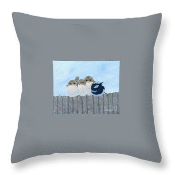 Hanging Around Throw Pillow
