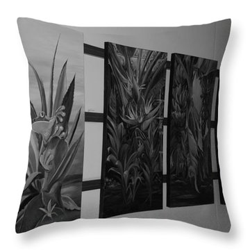 Throw Pillow featuring the photograph Hanging Art by Rob Hans