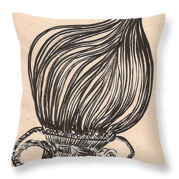 Hanging Basket Throw Pillow by Al Goldfarb