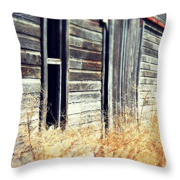 Throw Pillow featuring the photograph Hanging By A Bolt by Julie Hamilton