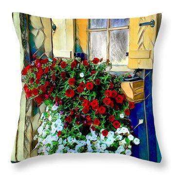 Hanging Gardens Throw Pillow