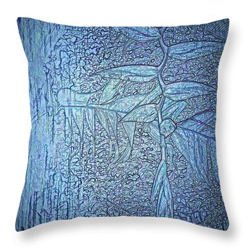 Hanging In Blue Throw Pillow