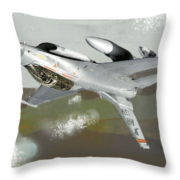 Hanging In The Seat Throw Pillow by Walter Chamberlain