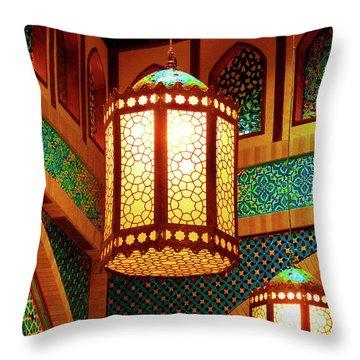 Hanging Lanterns Throw Pillow by Farah Faizal