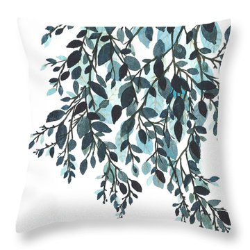 Hanging Leaves II Throw Pillow by Garima Srivastava