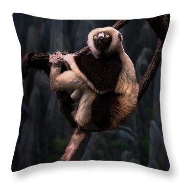 Hanging On Throw Pillow
