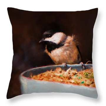 Hanging On The Edge Throw Pillow by Jai Johnson