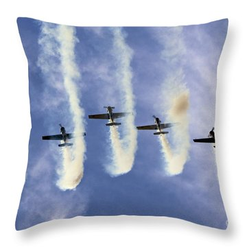 Hanging On The Sky  Throw Pillow by Angel  Tarantella