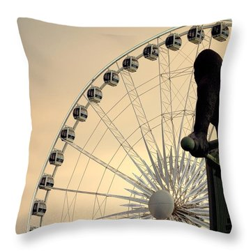 Throw Pillow featuring the photograph Hanging On The Wheel by Valentino Visentini