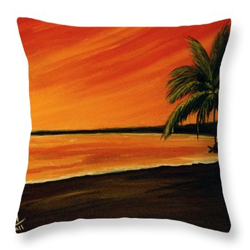 Hanging Out At The Beach #153 Throw Pillow by Donald k Hall