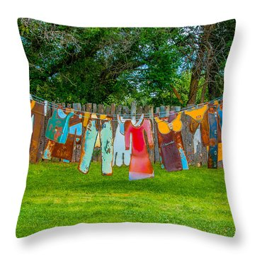 Hanging Out... Throw Pillow by Carolyn Dalessandro