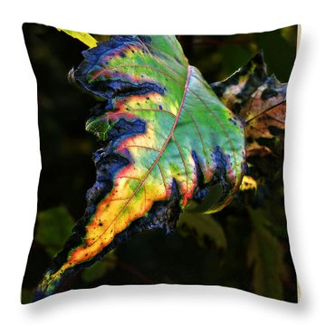Throw Pillow featuring the photograph Hanging Out by Joan  Minchak