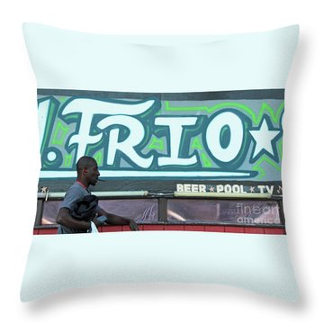 Throw Pillow featuring the photograph Hanging Out On Frio Street by Joe Jake Pratt