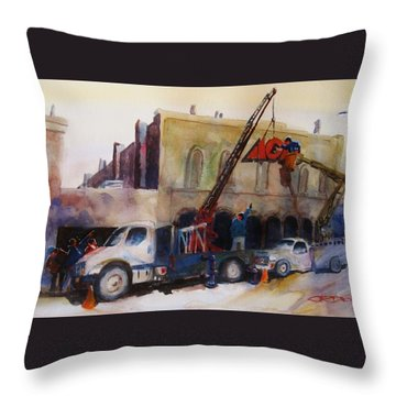 Hanging Red Ace #2 Throw Pillow