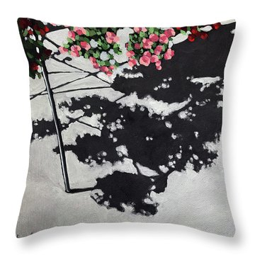 Hanging Shadows - Floral Throw Pillow