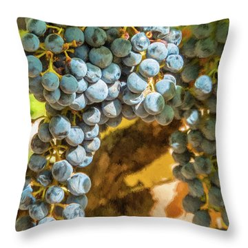 Hanging Wine Throw Pillow
