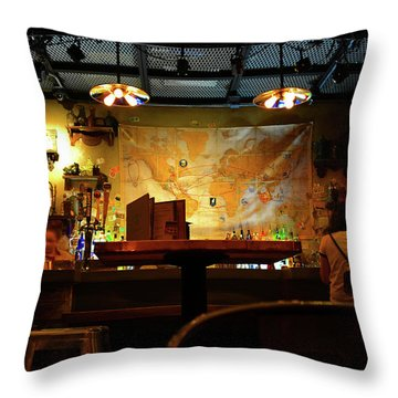 Throw Pillow featuring the photograph Hanging With Jock by David Lee Thompson