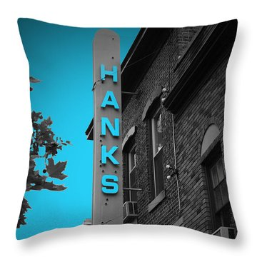 Hanks Oyster Bar Throw Pillow by Jost Houk