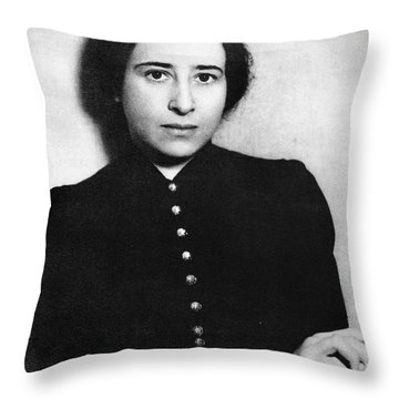 Hannah Arendt (1906-1975) Throw Pillow
