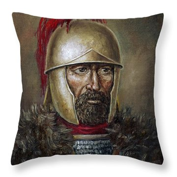 Hannibal Barca Throw Pillow by Arturas Slapsys