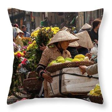 Hanoi Market 02  Throw Pillow