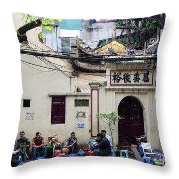 Hanoi Old Quarter 1 Throw Pillow