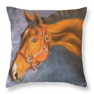 Hanoverian Warmblood Sport Horse Throw Pillow