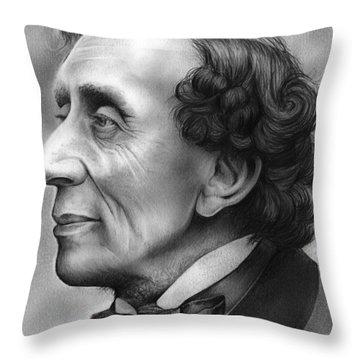 Hans Christian Andersen Throw Pillow
