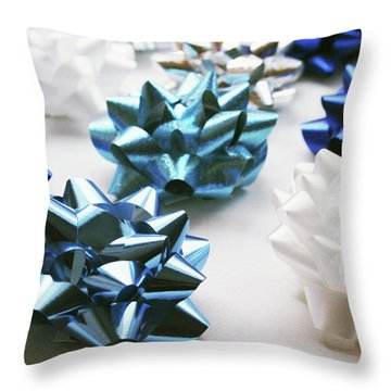 Hanukkah Bows- Photography By Linda Woods Throw Pillow
