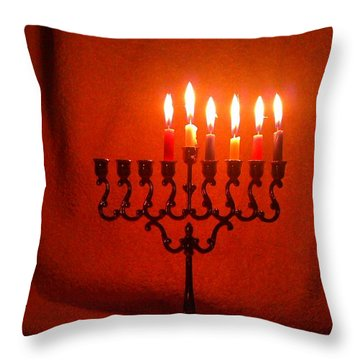 Hanukkah On Fifth Day Throw Pillow