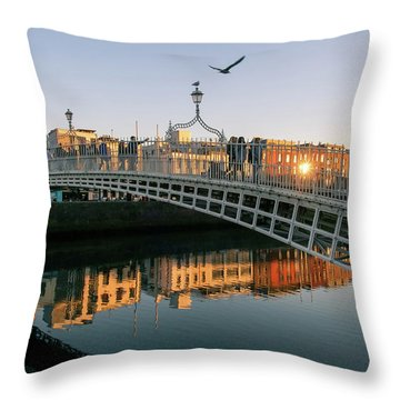 Ha'penny Bridge Throw Pillow