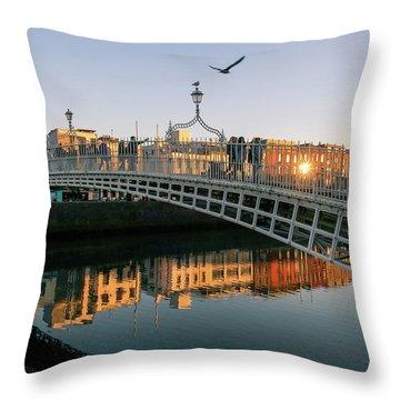Ha'penny Bridge Throw Pillow