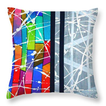 Happiness Against The Steel Throw Pillow by Jeremy Aiyadurai