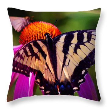 Happiness In Our Own Gardens... Throw Pillow