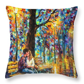 Happiness   Throw Pillow by Leonid Afremov