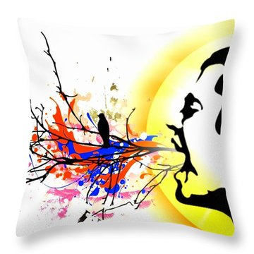 Happiness Must Be Born Within Us 1 Throw Pillow