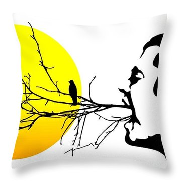 Happiness Must Be Born Within Us 2 Throw Pillow