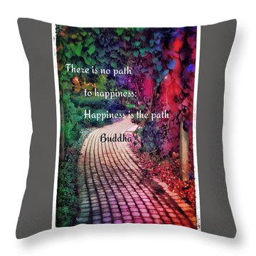 Happiness Path Throw Pillow