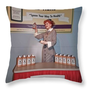 Happy 100th Birthday Lucy Throw Pillow