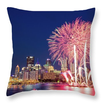 Happy 4th  Throw Pillow