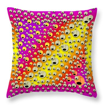 Happy And Merry Music Throw Pillow