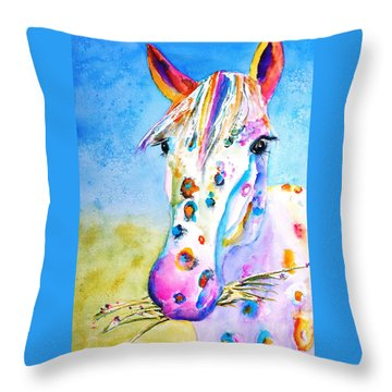 Happy Appy Throw Pillow