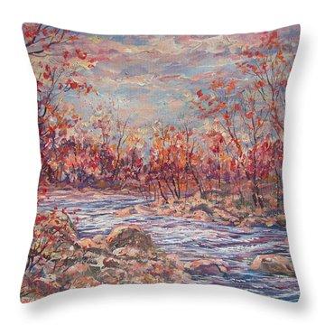 Happy Autumn Days. Throw Pillow