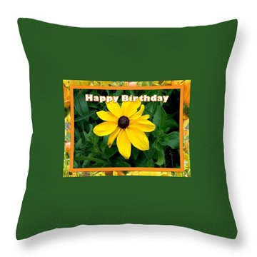 Throw Pillow featuring the photograph Happy Birthday Card by Sonya Nancy Capling-Bacle