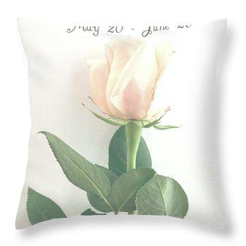 Happy Birthday Gemini Throw Pillow
